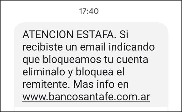 mail bsfe advertencia