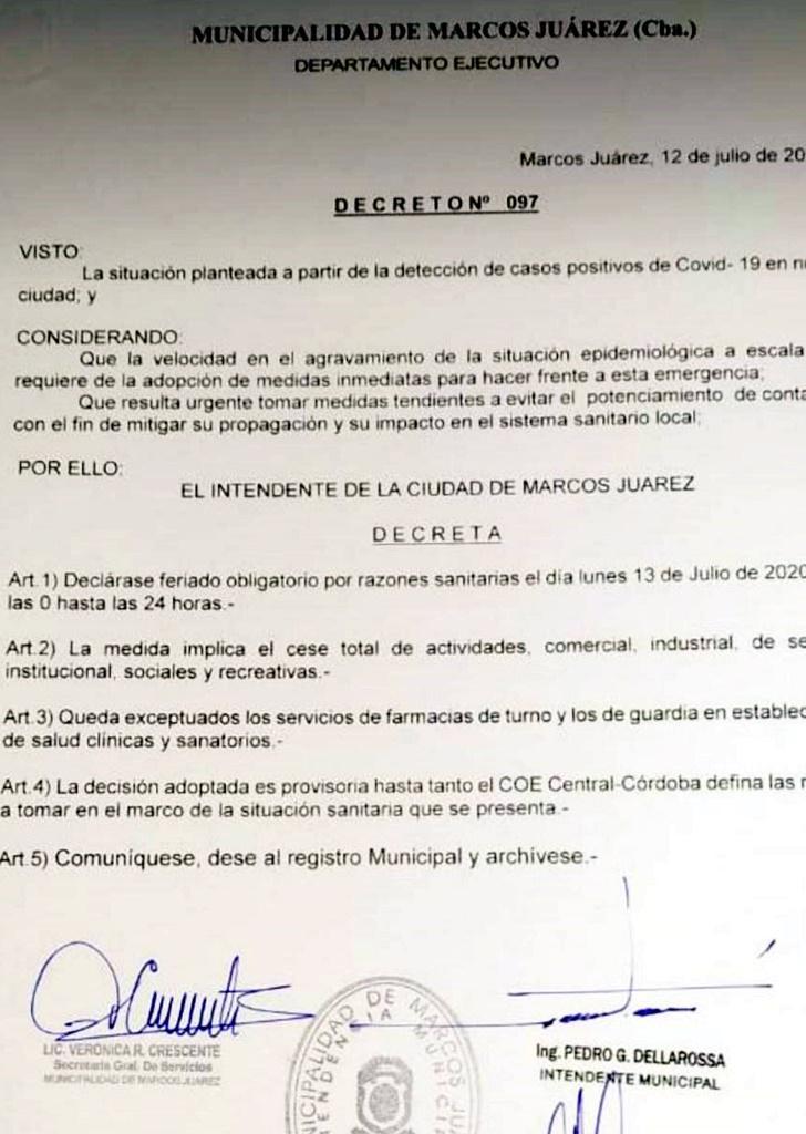 decreto marcos juarez