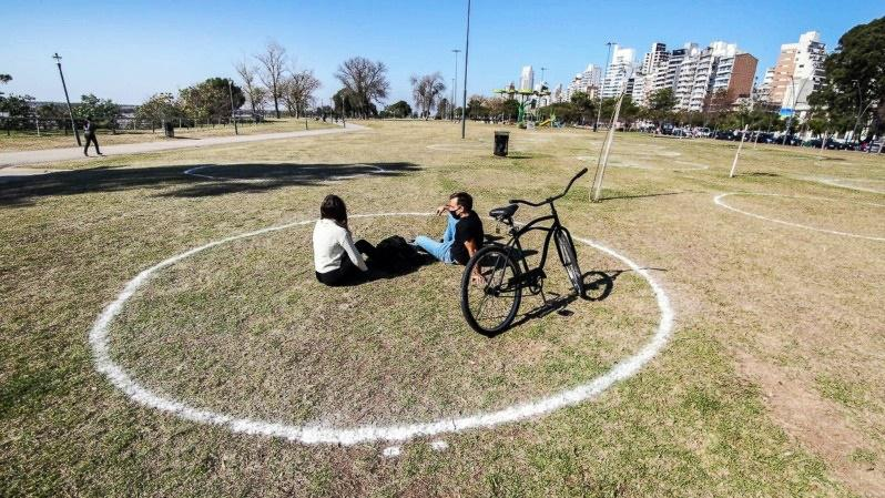 círculo distanciamiento